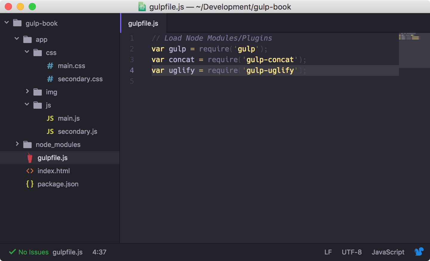 Understanding the basics of gulp packt books in this code we have included gulp and two gulp plugins gulp concat and gulp uglify as you can now see including a plugin into your gulpfile is quite malvernweather Images