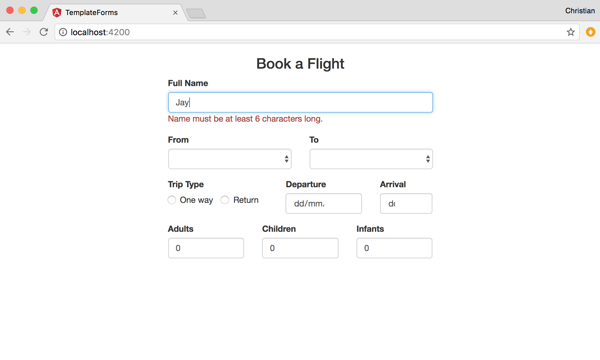 book flight