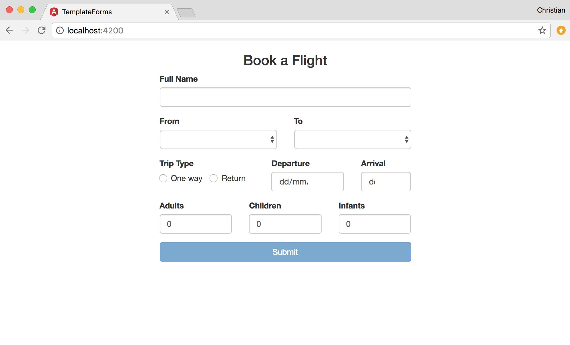 book flight
