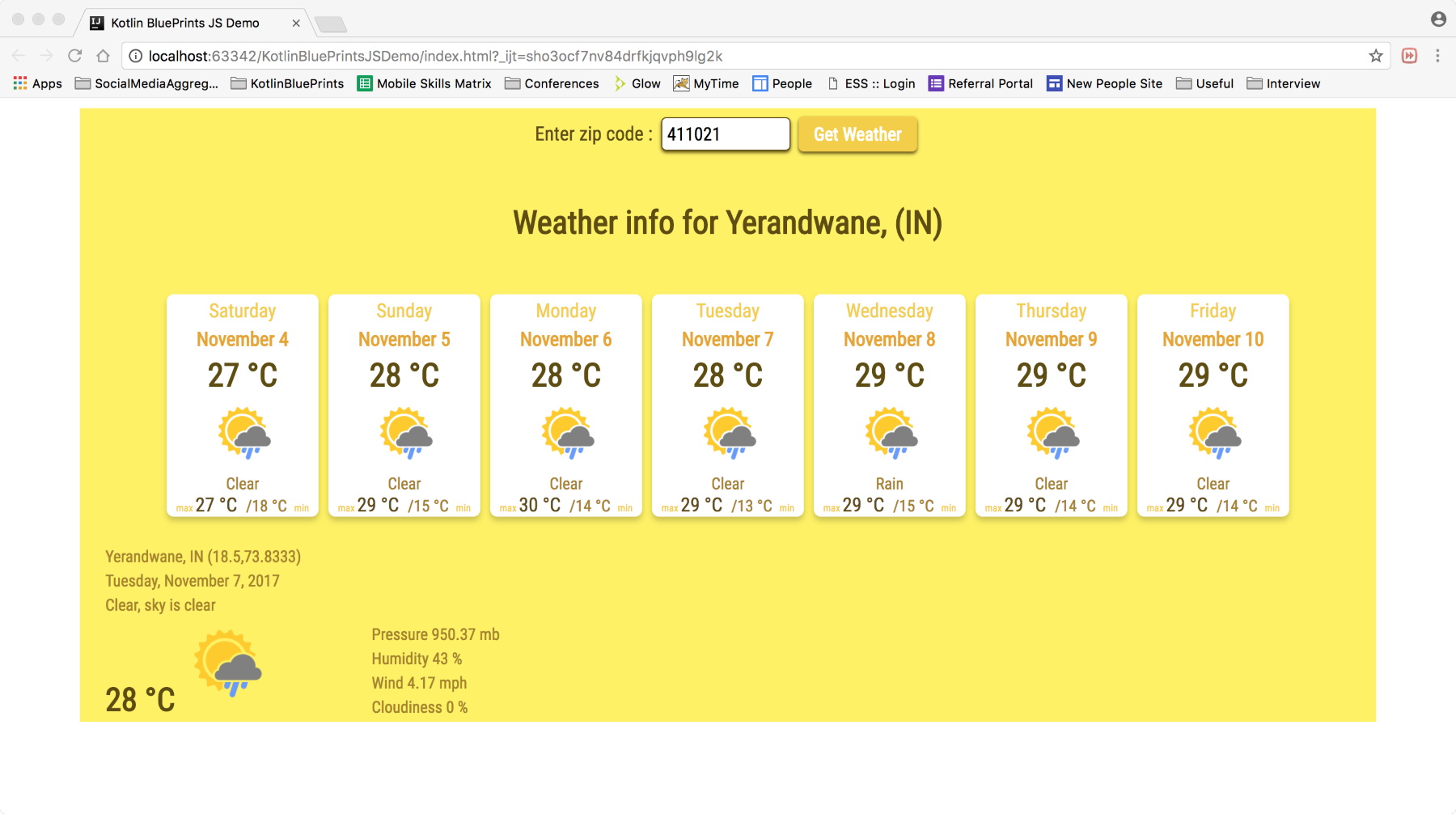 How to build a weather app using Kotlin for JavaScript | Packt Hub