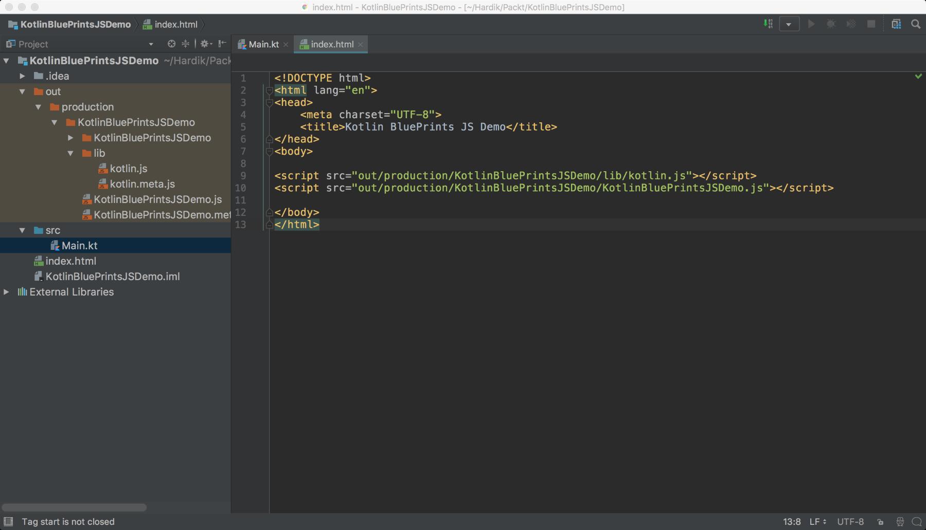 build project menu options