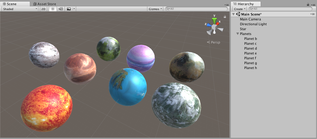 Virtual reality solar system in Unity on Google Cardboard