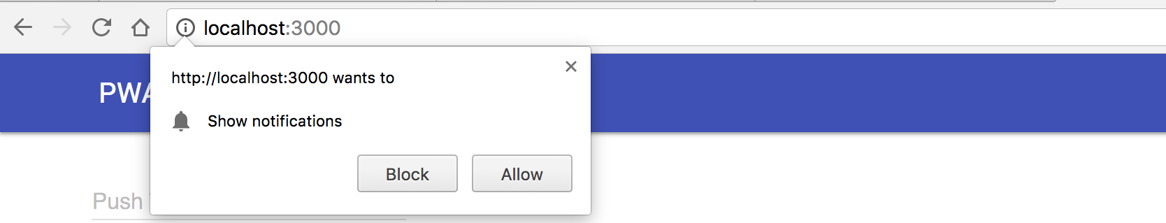 Figure 1: Notification authorization request