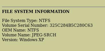 file system information