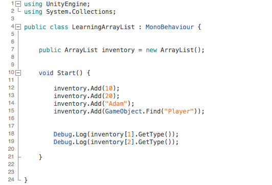How to use arrays, lists, and dictionaries in Unity for 3D game