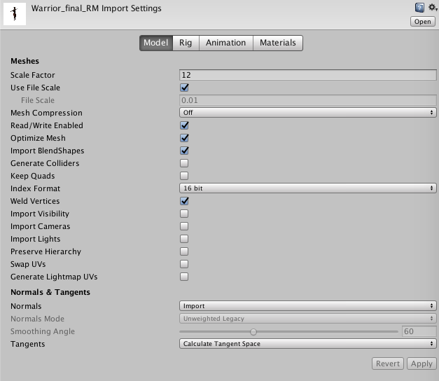Importing character models and animations