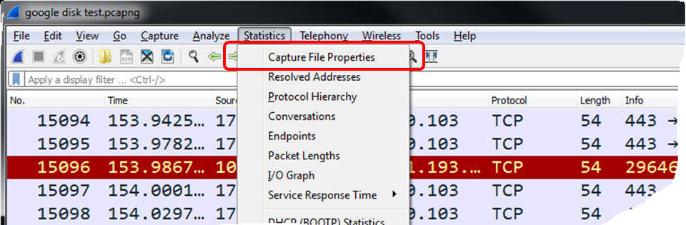 Using statistical tools in Wireshark for packet analysis [Tutorial