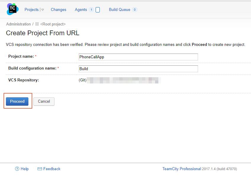 Create project url