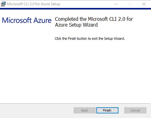 Figure 1.17: Installing Azure CLI 2.0