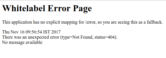 whitelabel error page