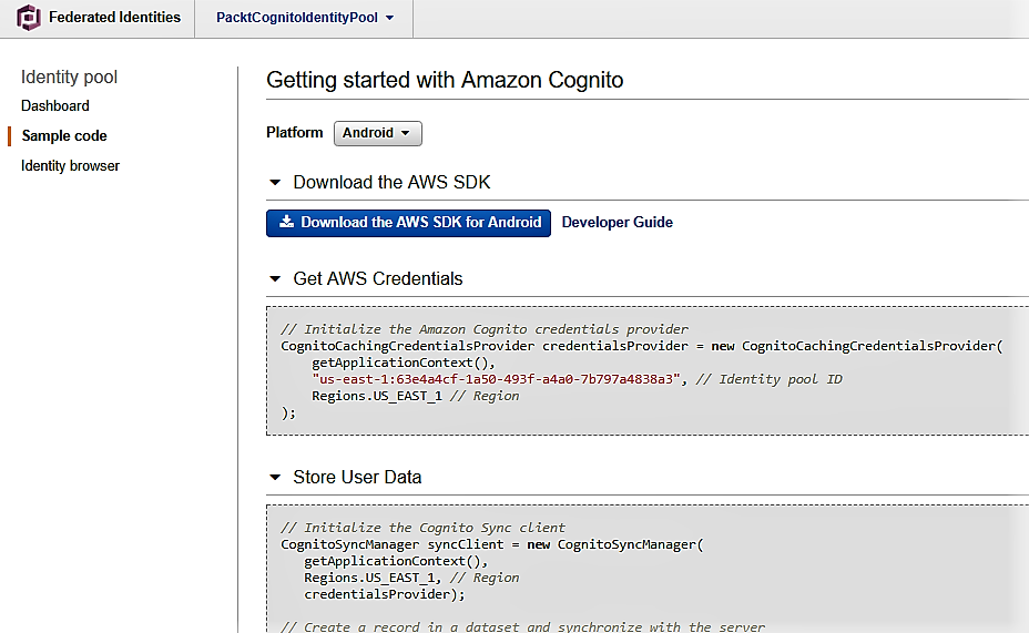 Amazon Cognito Federated Identities