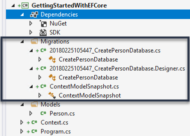 Access application data with Entity Framework in  NET Core