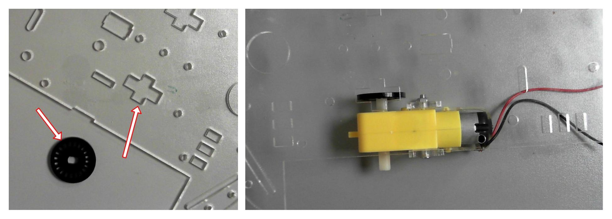 Encoder wheel and slot close up