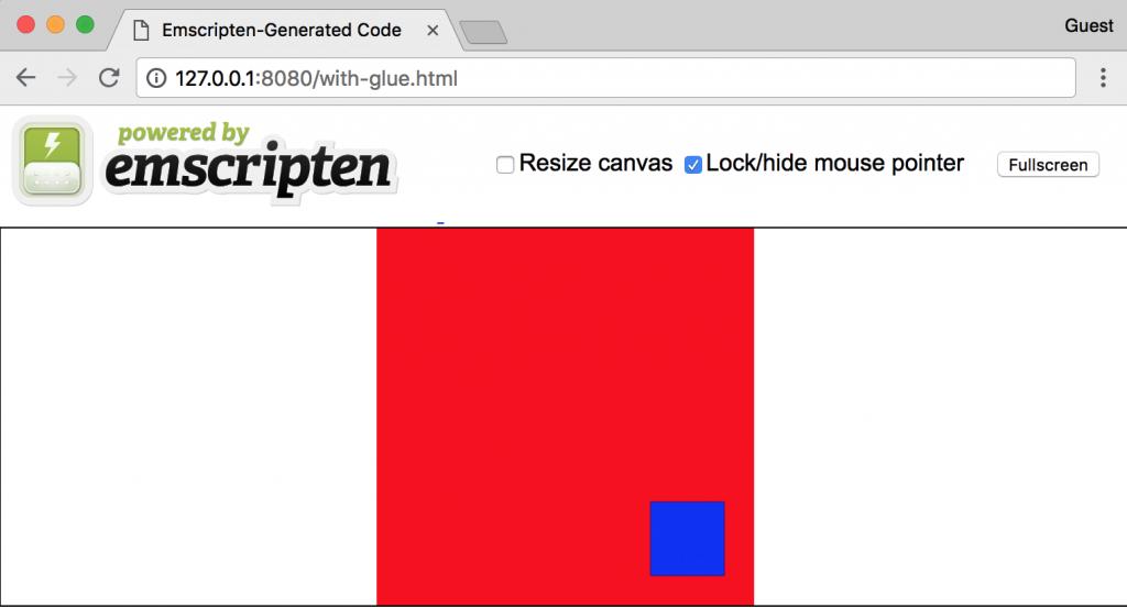 Emscripten loading code running in the browser