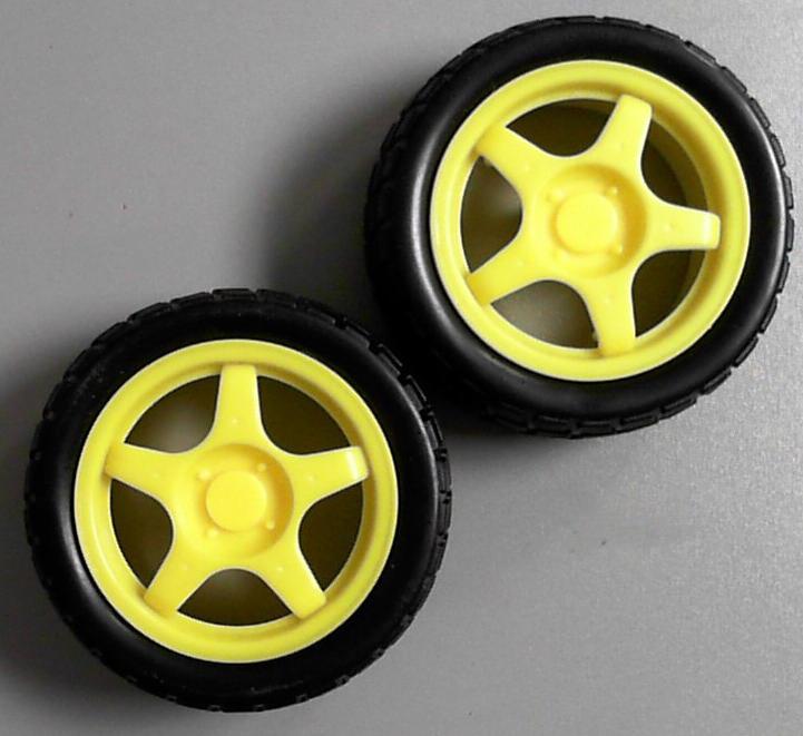 Common inexpensive robot wheels