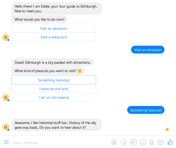 Building your first chatbot using Chatfuel with no code